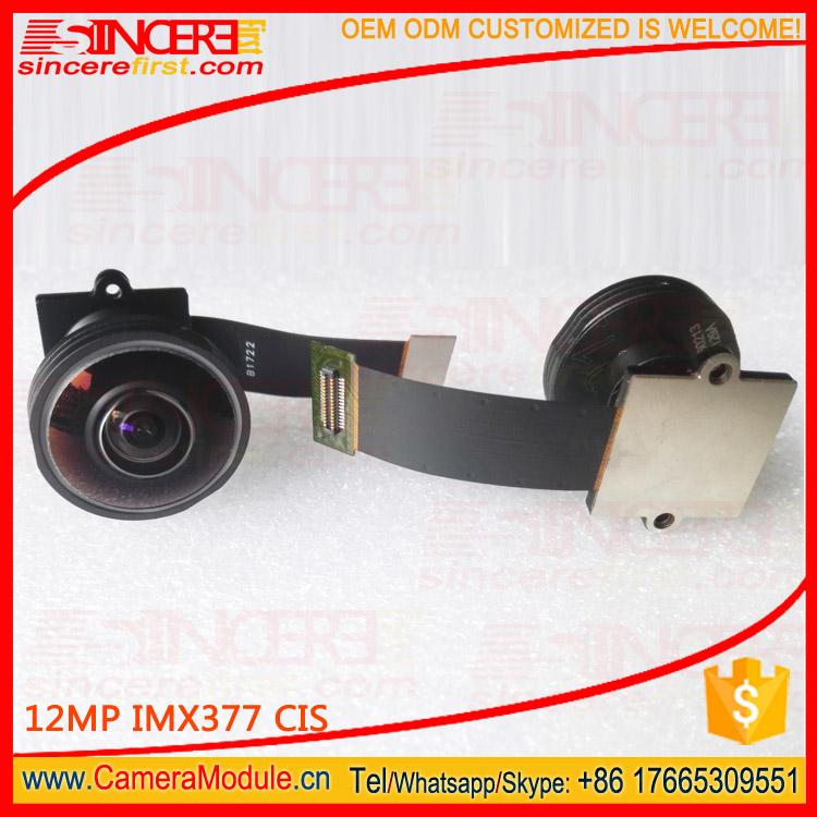 190 degree Wide angle fisheye camera 12MP 4K Sony imx377 camera module for intelligent machine visio