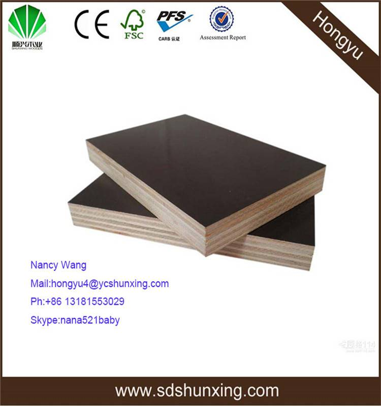 high pressure laminated shuttering plywood