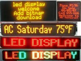 Bus Rolling LED display board