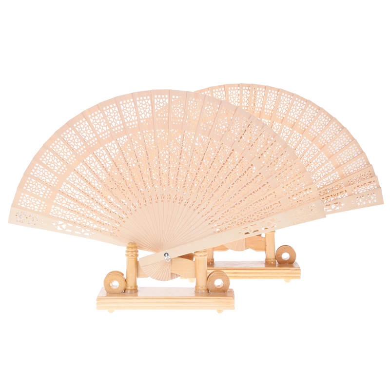 wholesale custom laser logo wooden fan