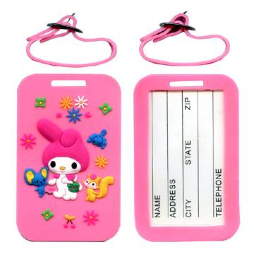 Soft PVC luggage tags with 3D