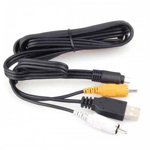 camera cable USB+AV CABLE For PENTAX OPTIO E30/E40/E50/E60/E70L/E75