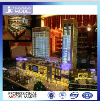 Miniature building model making  for shopping mall