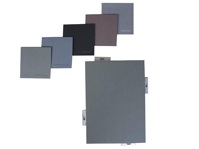 titanium-zinc honeycomb composite panel