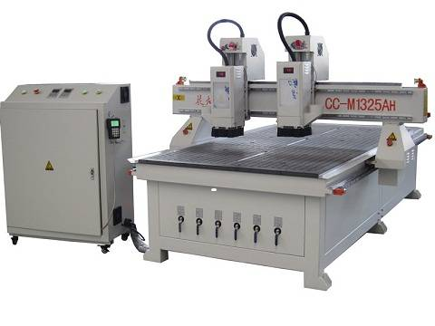 DOUBLE SEPERATE SPINDLES VACUUM SUCTION FURNITURE MAKING CNC ROUTER
