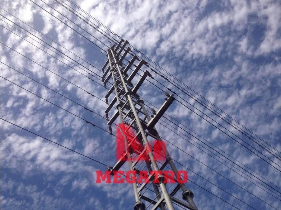 35kv multi-circuit steel tubular tower (MGP-35MT)