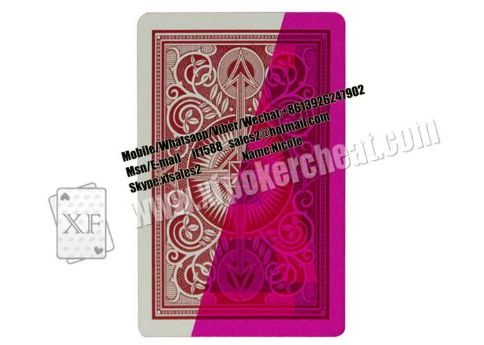 Magic Props Arrow Kem Plastic Invisible Playing Cards For UV Contact Lenses Gambling Cheat