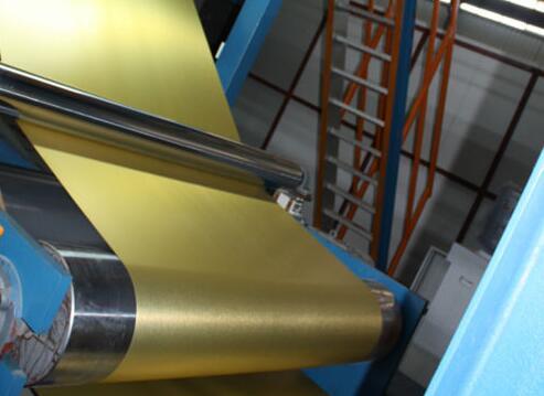 Brushed aluminum foil and aluminum coil