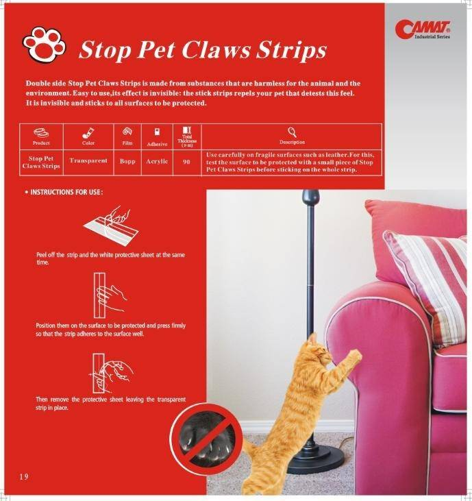 Stop pet claws strips