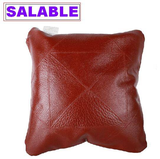 Leather throw pillow cases