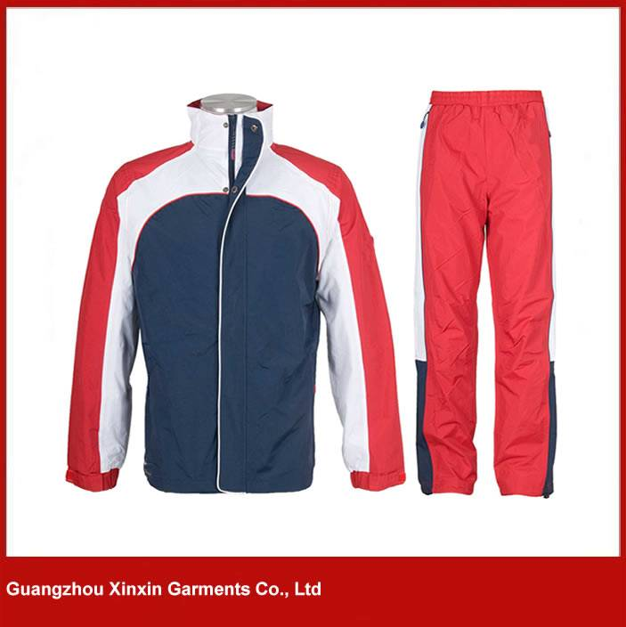 Custom Red Color Tracksuit Manufacturer In China
