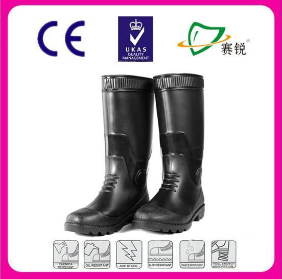 CE standard inudstrial work safety rain boot manufacturer