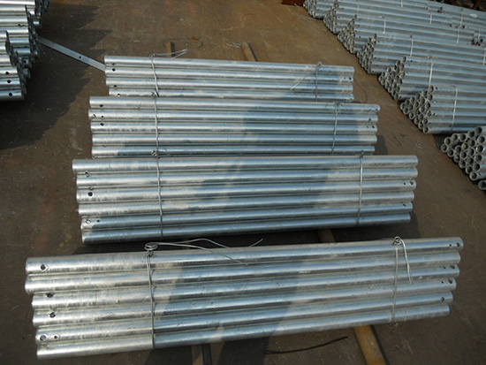 Hot dip galvanized antenna fixing steel tube for telecommunication tower