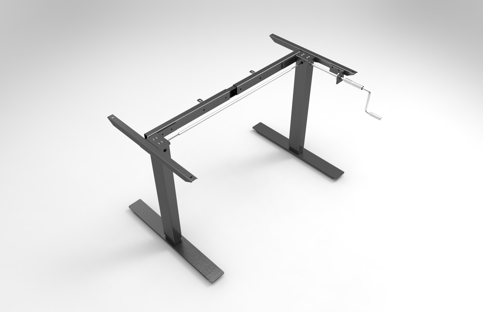 Hand crank height adjustable desk made in China