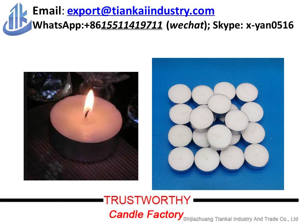 Candle factory wholesale unscented white tea light candle