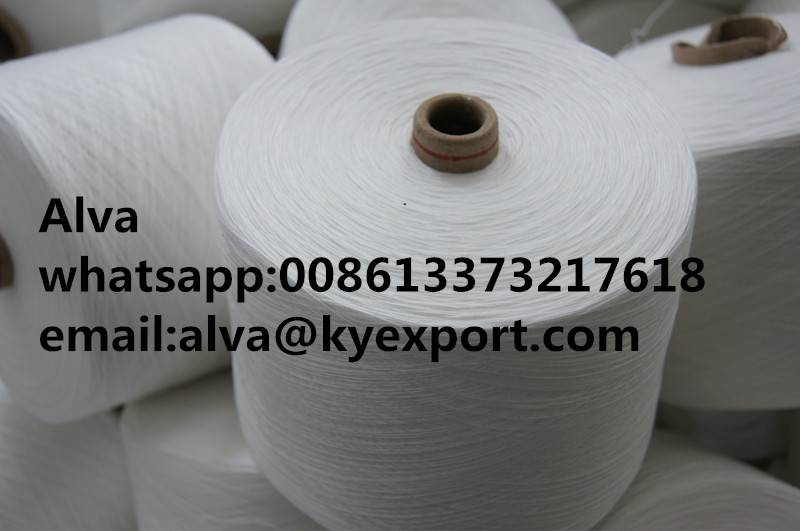 polyester spun yarn for weaving
