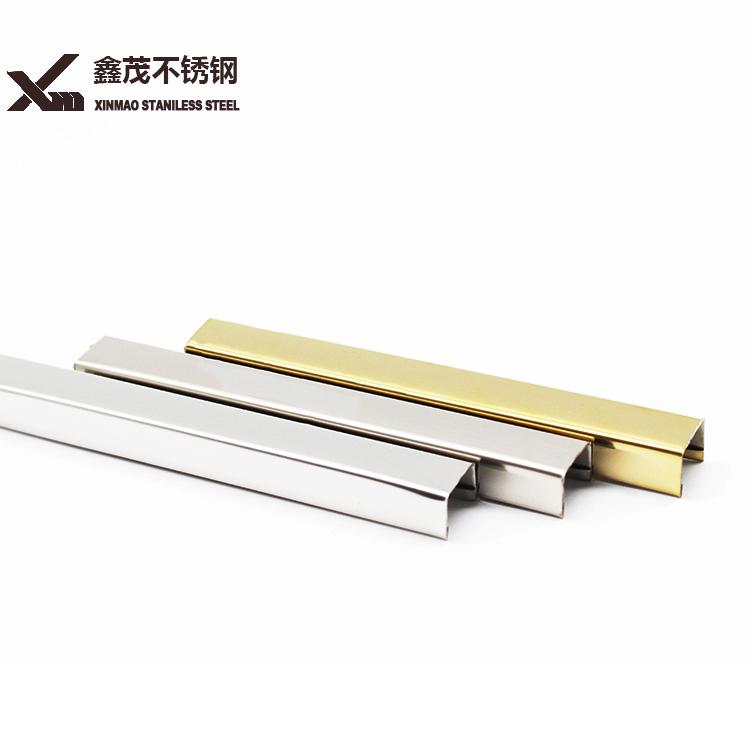 High quality stainless steel ceramic tile corner trim strip round bar foshan
