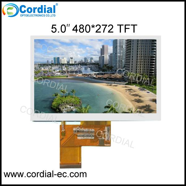 5.0 inch 480×272 TFT LCD MODULE CT050BLI03, optional with resistive touchscreen