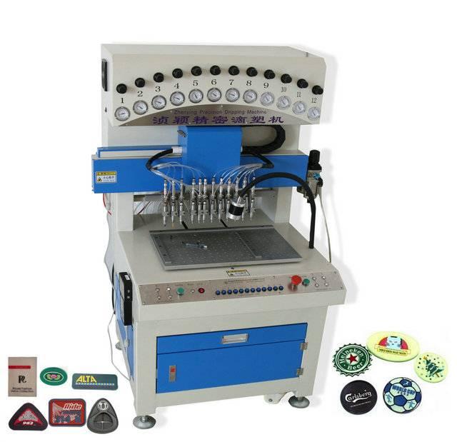 12 colors liquid pvc plastic dispenser machine