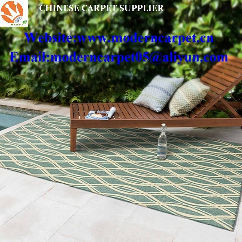Hand hooked polypropylene outdoor carpet rugs