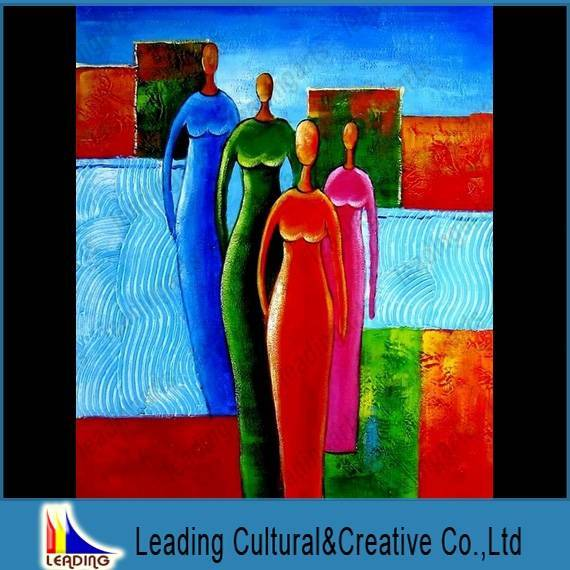 handmade original abstract lady women oil painting on canvas