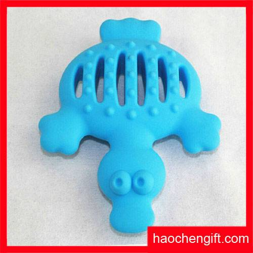Food Grade Silicone Duck Shape Pet Toy, Dog Trading Toys
