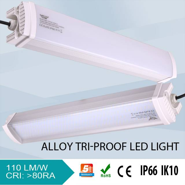 30W/50w/60w/80w IP66 Three-proof Lighting Fixture use as Architectural Lamp