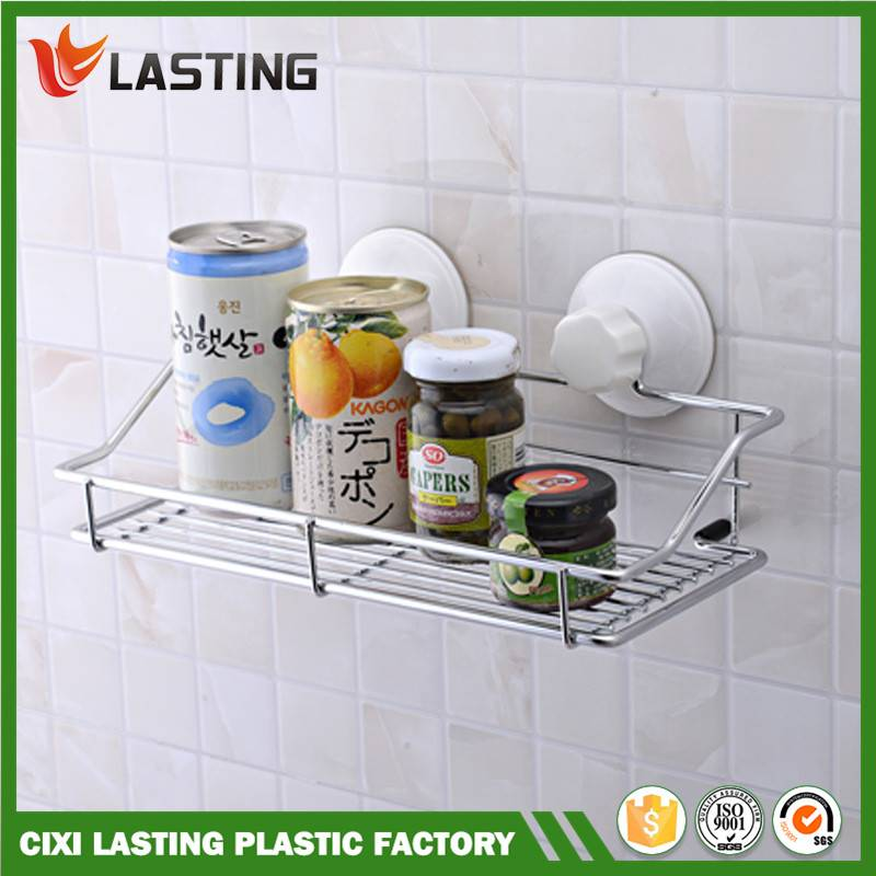 Multi-function Metal Bathroom & Kitchen Storage Shelf With Super Suction
