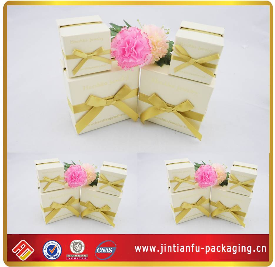 Hot Sell Jewerly Paper Box With Ribbon