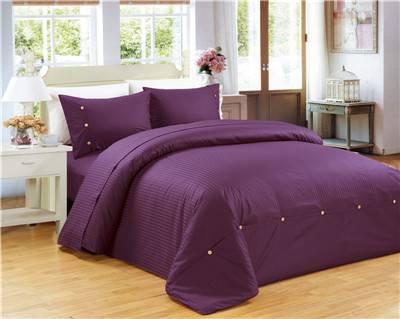 Solid color polycotton bedding set 4pcs
