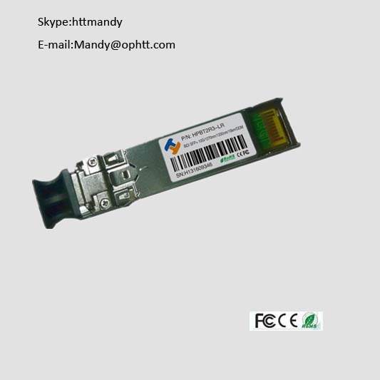 Factory price huawei cisco switch 10G 80KM BIDI SFP+ fiber optic transceiver dual fiber 1550nm,LC wi