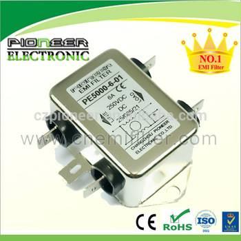 PE5000-6-01 6A 80V/250V DC emc noise passive filter