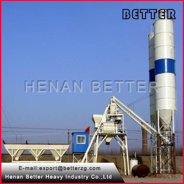 HZS50 ready mixed concrete batching plant with high quality