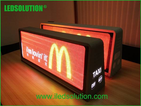 taxi top full color led display
