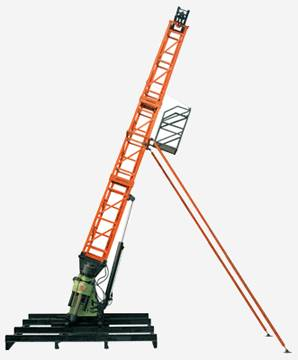 XY-44T core drilling rig integrated with main machine and tower