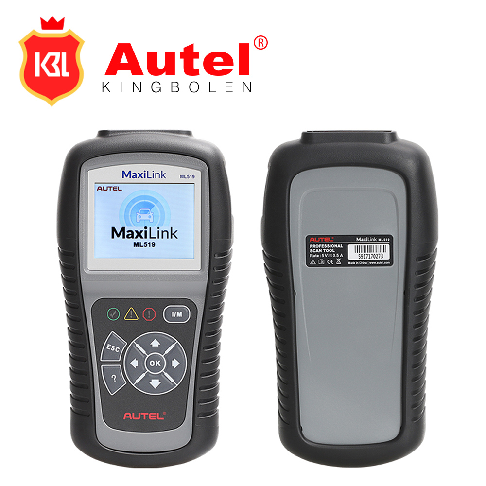 Autel MaxiLink ML519 Auto Code Reader OBD II CAN Scan Tool Same with AL519 Turns off