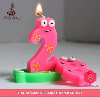 YiWu factory plum point number flameless birthday cake candles