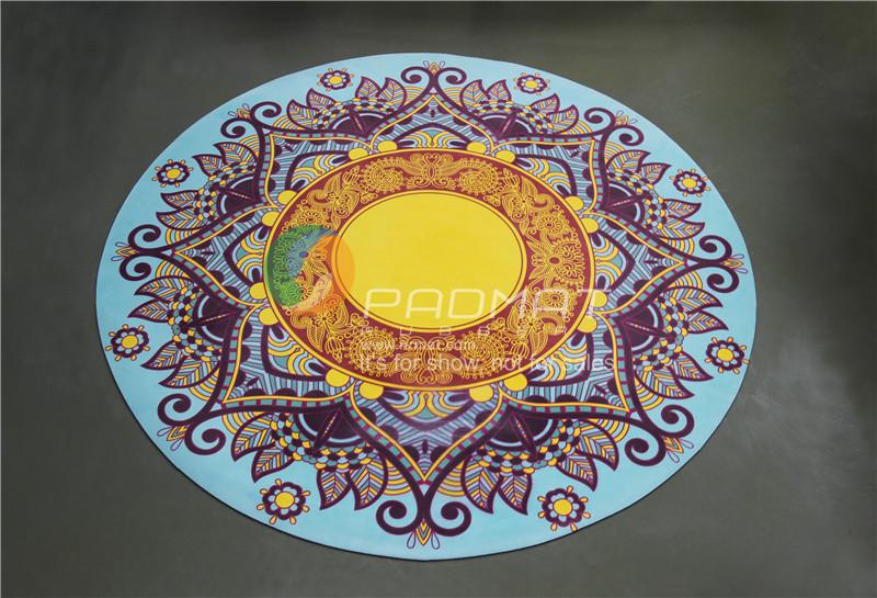OEM Custom printed round yoga mat, Kid yoga mat