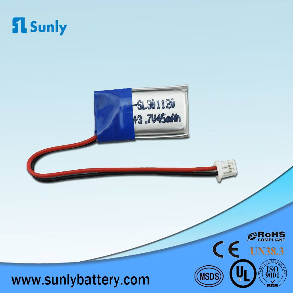 Rechargeable battery 3.7V 45mAh li-ion lithium battery