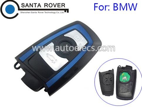 Smart Remote Key Cover 3 Button Blue For B MW 5 7 Series Car Key Shell