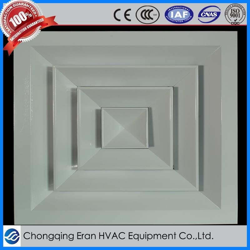 HVAC aluminum air conditioning parts air outlet square ceiling diffuser