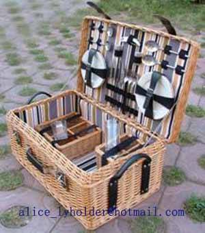 6 person Picnic Basket HD-H024, Wicker hamper