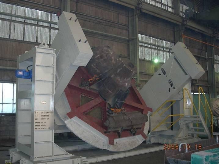 Double-column welding positioner