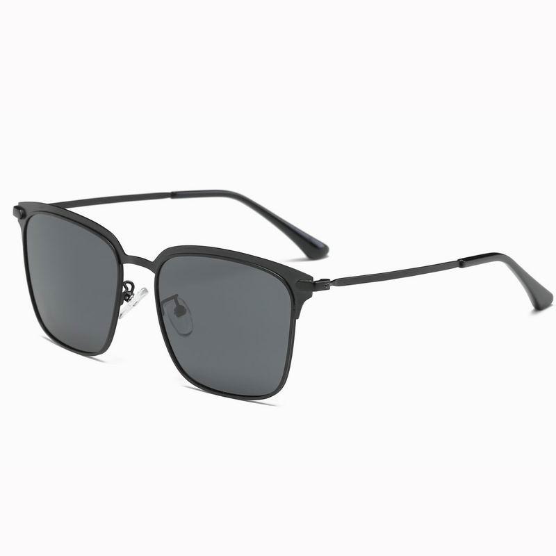 Vintage Street Fashion Square Metal Frame Polarized Sunglasses