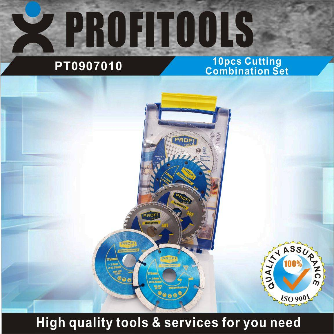 10pcs Prifitools Cutting Combination Blades for Different Needs