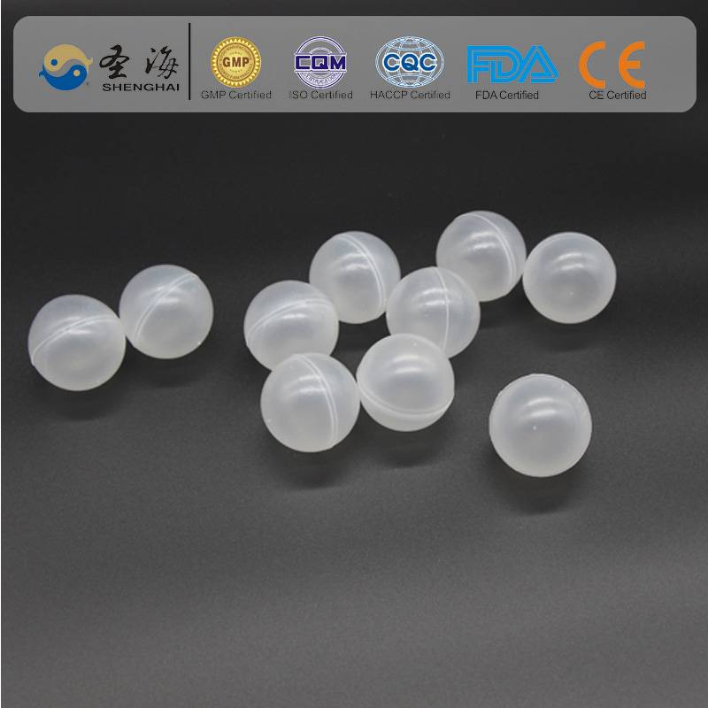 China factory supply 38mm hdpe hollow plastic ball for water treatment
