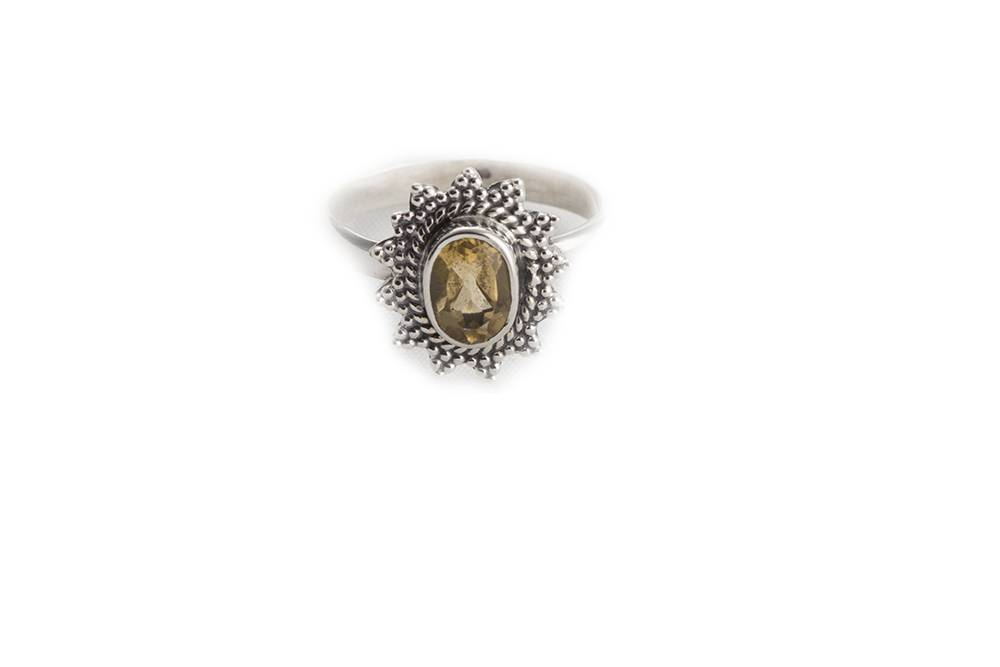 92.5 sterling silver Citrine Ring