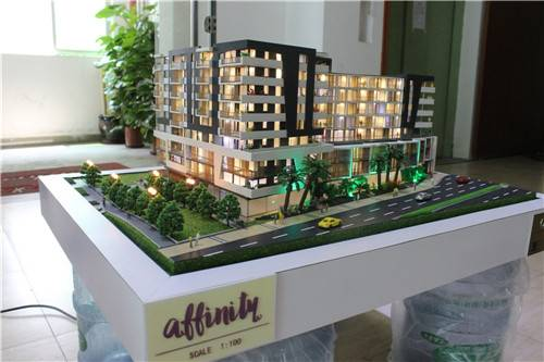 1:100 3d architectural models for apartment