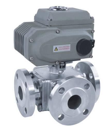 Electric high platform 3-way  ball valve