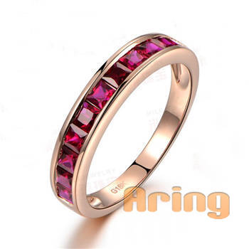 Wholesale 18k Gold Jewelry Ruby Rings solid gold jewelry